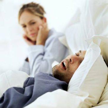 Во время сна нос храпит